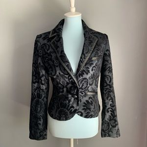 MARCIANO black on black embroidered blazer